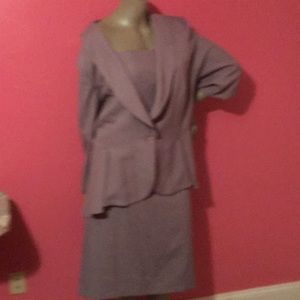 Lite gray 2 piece suite for plus size women
